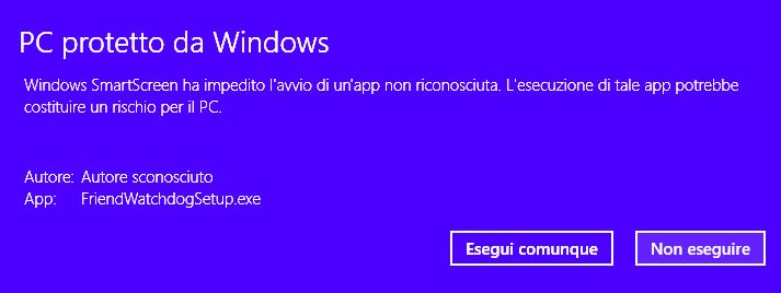 Windows Smart Screen protection